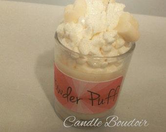 Baby powder dessert candle