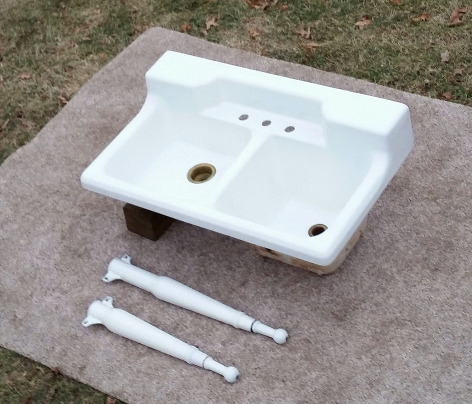 Farmhouse Porcelain Sink : Original Porcelain Cast Iron Farm Sink-DEEP by AntiqueOriginaL