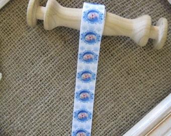 Blue Frozen Grosgrain Ribbon 22mm (Sold in 1 yard lengths)