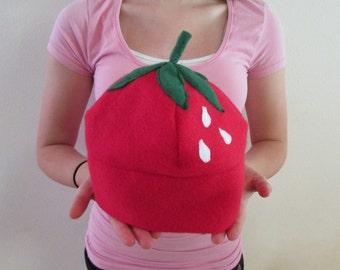 Fleece Strawberry Hat