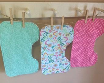 Set of 3 Birdie Burp Cloths