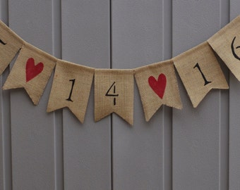 Save The Date Banner, Save The Date Bunting, Engagement Banner Garland, Burlap Banner, Shower Décor, Photo Prop, Barn, Rustic, Country