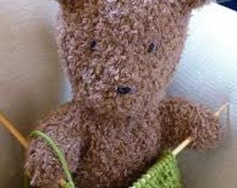 Cuddly Hand Knit Berroco 'Barrison' Teddy Bear knit in Berroco Nanuk