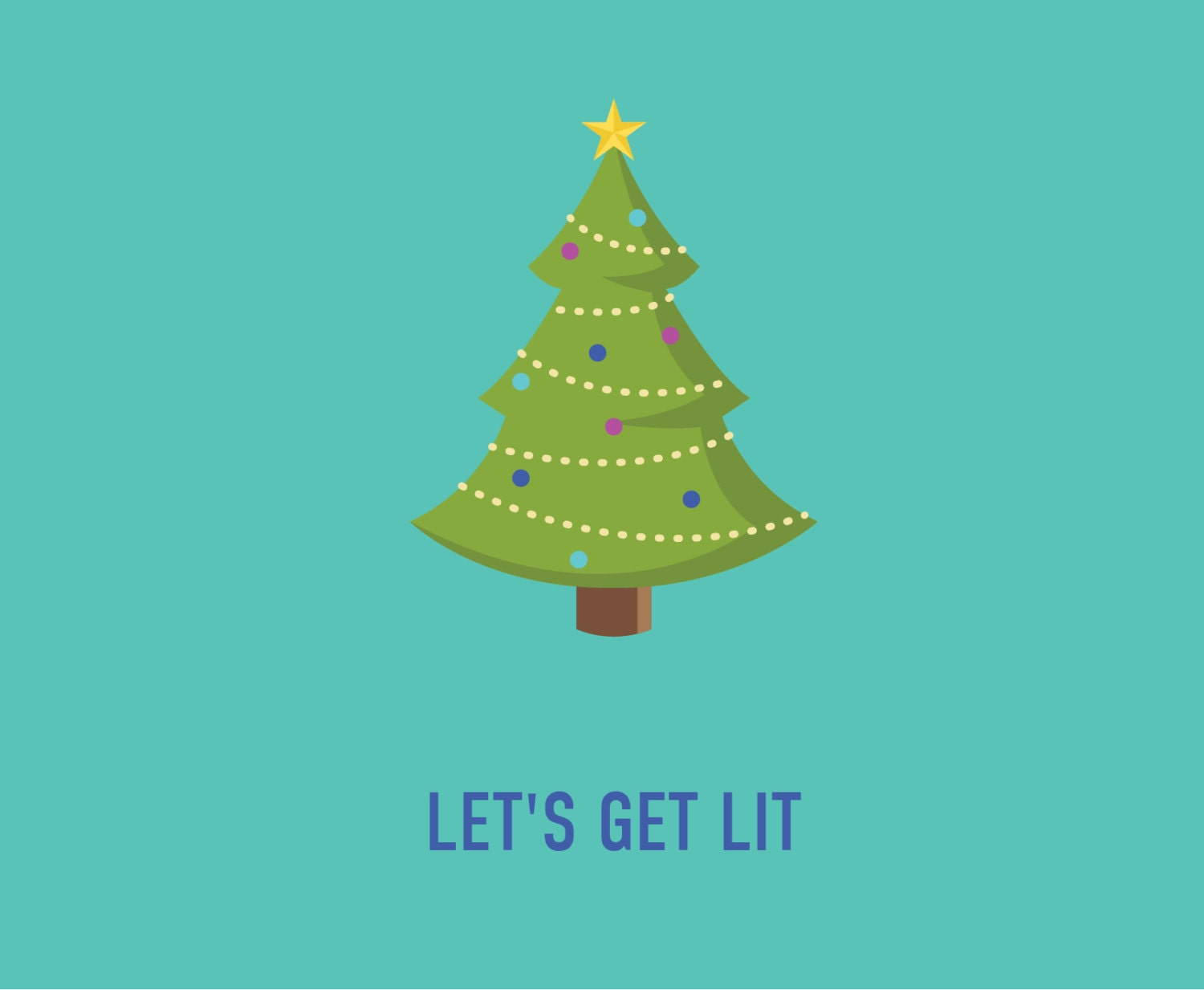 Funny Christmas Party Invitation | Let\'s Get Lit Invite | Funny ...