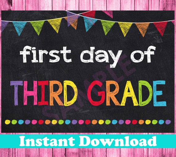 It is a photo of Dynamite First Day of 3rd Grade Printable