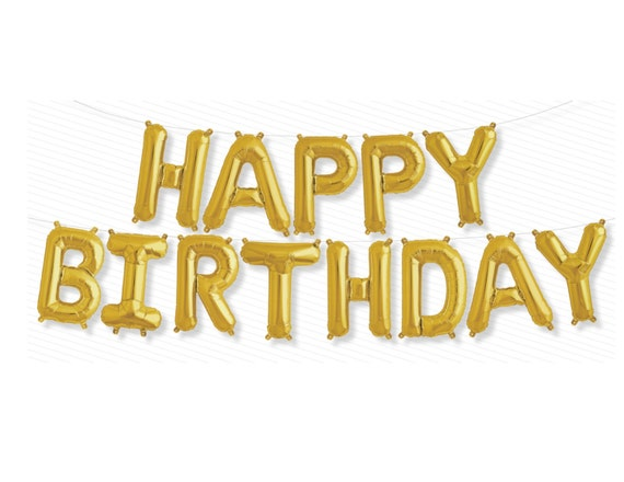 happy birthday letter happy birthday letter balloons 16 gold sliver or multi color 22083