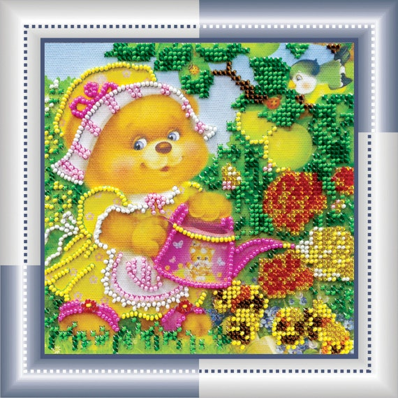 Items similar to bead embroidery kit stitch