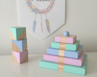 Little Love Stackers - Handmade Wood Happy Stacker Toy