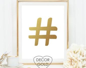 Hashtag gold etsy for Decor hashtags