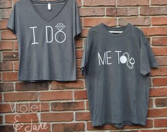 Grey Couples Shirt Combo | I Do, Me Too