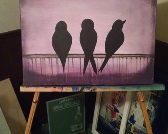 3 Little Birds Painting