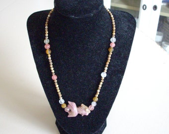 Jasper and Tourmaline Beaded Necklace