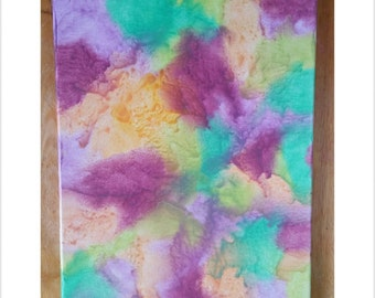 Melted crayon water color art