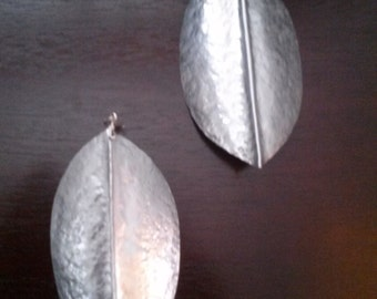 Large Turtle Shell Inspired Aluminum Statement Earrings