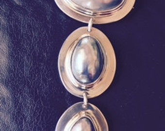 Sterling silver and pearl pin/pendant