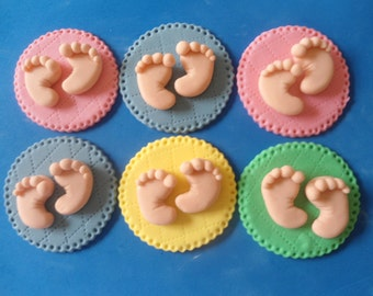 Baby fondant baby cupcake topper