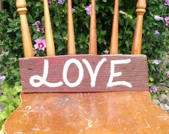 Love barnwood sign