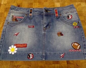 FSU Denim Skirt