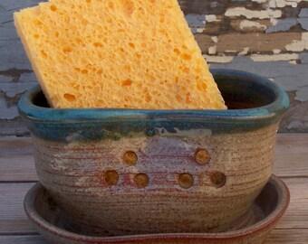 sponge holder green/harvest gold