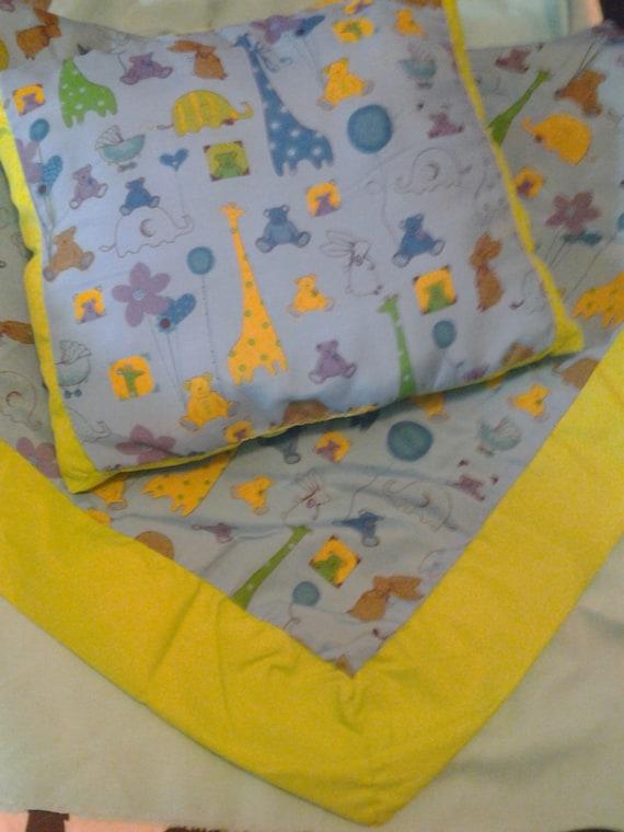 baby blanket and pillow set blanket and by ivetteslittleshop. Black Bedroom Furniture Sets. Home Design Ideas