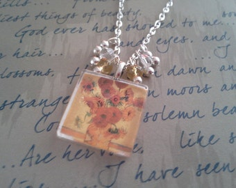 Impressionist Tile Necklace and Earring Set