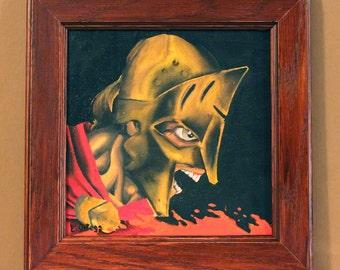 "Spartan oil painting original 8""X8"" Koi oil painting"