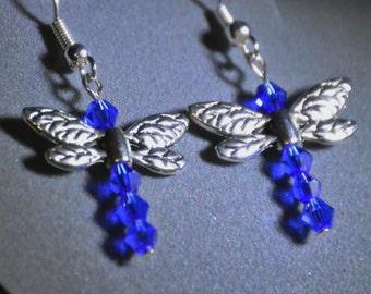 Dragonfly Dangle Earrings