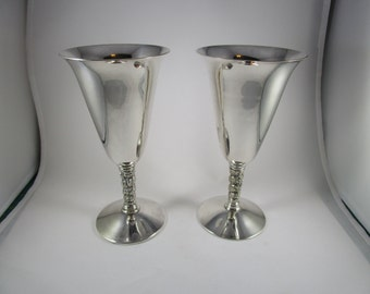 Venecia Silver Plate Goblets, Made in Spain