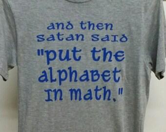 Funny math t shirt