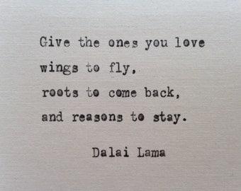 Dalai Lama quote hand typed on antique typewriter scrapbooking