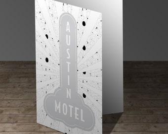 Austin Motel Coloring Greeting Card