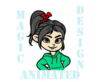 Vanellope Machine Embroidery Design in 4X4 ---Instant download---