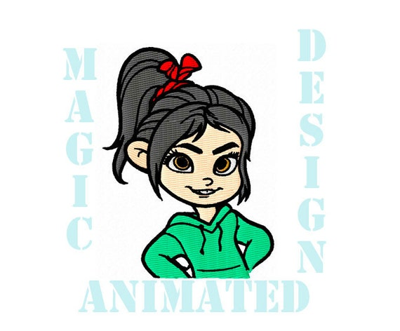 Vanellope machine embroidery design in instant
