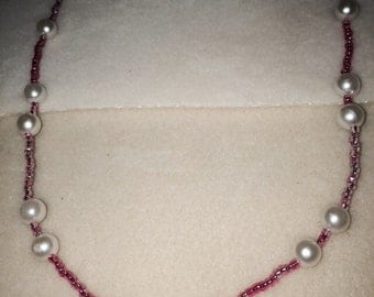 103 Pink & Pearl Necklace