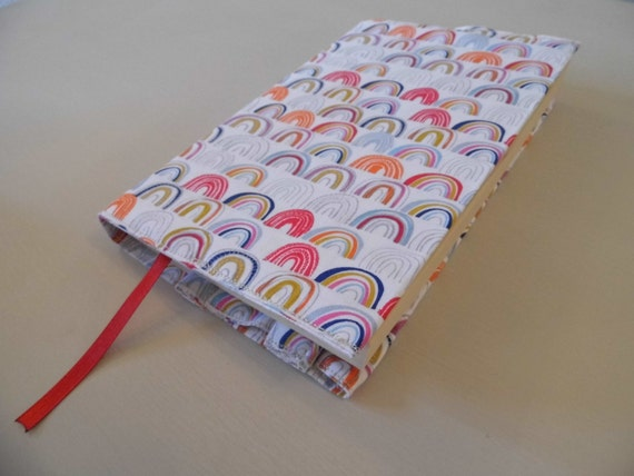 Handmade Fabric Book Covers : Over the rainbow handmade fabric book cover by bookandcover