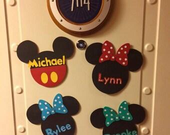 Disney Cruise Line Door Magnet // Mouse Door Magnet // Kids Door Magnet // Personalized Door Magnet // Cruise Decoration // Mickey Mouse