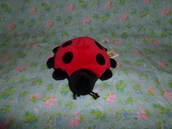 Vintage Manhattan Toy Ladybug Plush Velour 1994 Small 4