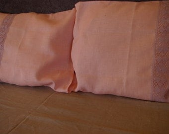 Set of 2 linen pillowcases