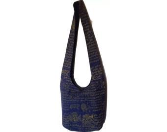 Embroidered Cotton Hobo CrossBody Bag
