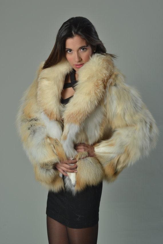 Golden Fox Fur Coat Fur Jacket Luxury Gift Weddingor