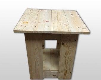 Handmade Pine End Table
