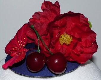 Cherry Red Fascinator