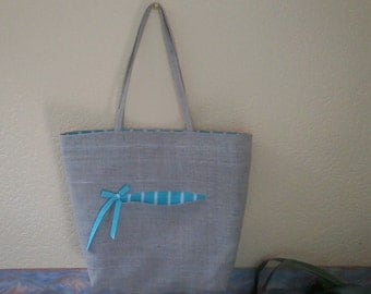 linen shopping bag with lining