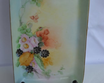 SALE*** Vintage hand painted porcelain tray ca. 1927