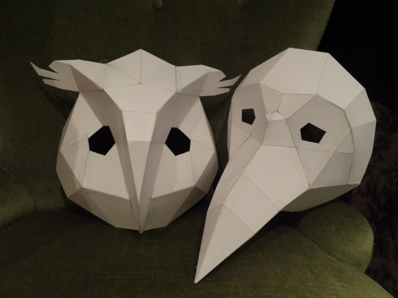 printable masks make your own owl mask bird mask instant