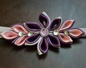 Flower headband / headband purple/lilac/pink flower