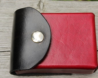 Leather deck box with belt loop/clip for Yu-Gi-Oh, Magic the Gathering, Pokémon, Cardfight!! Vanguard and others! -- ベルト 用レザー 遊戯王 デッキボックス