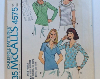 Vintage McCall's 4575 UNCUT Set of Tops for Knits Only Sizes 18-20 FF