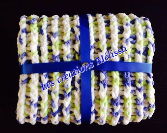 Blanket for baby - perfect for shower gift, birth, baptism and birthday.