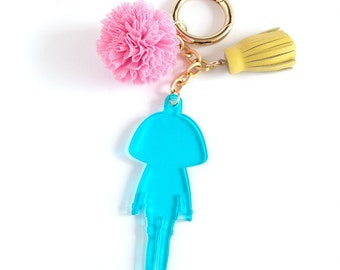 key chain, key ring, key fob, bag charm, key chain rings , charms, tassel, tassel charm, tassel keychain, hand crafted, lazyncrazy